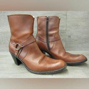 Frye Womens High Heel Western 9B Br Boots